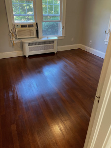 05 Eastern Mountain White Pine Stained with Dura Seal English Chestnut