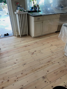03 Eastern Mountain White Pine Stained with Dura Seal English Chestnut