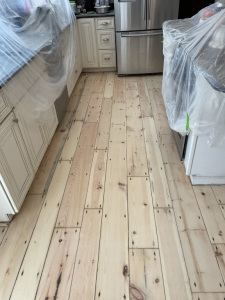 02 Eastern Mountain White Pine Stained with Dura Seal English Chestnut