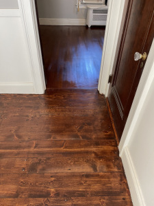 04 Eastern Mountain White Pine Stained with Dura Seal English Chestnut