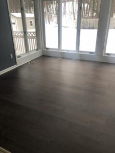 02 Luxury Vinyl Tile - LVT - Product is Impermawood, a 100% waterproof floor.